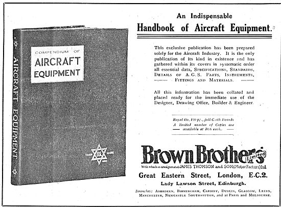 The Brown Brothers Handbook Of Aircraft Equipment