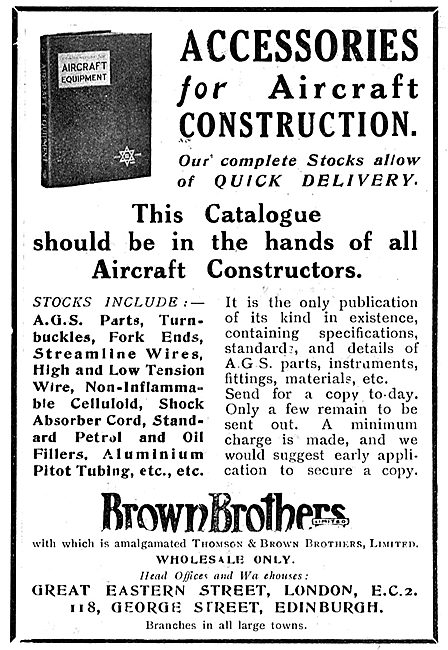 Brown Brothers Accessories For Aircraft Construction