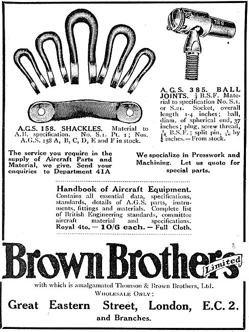 Brown Brothers AGS 156 Shackles & AGS 385 Ball Joints