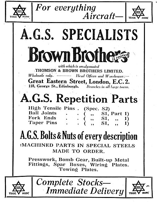 Brown Brothers For AGS Repetition Parts