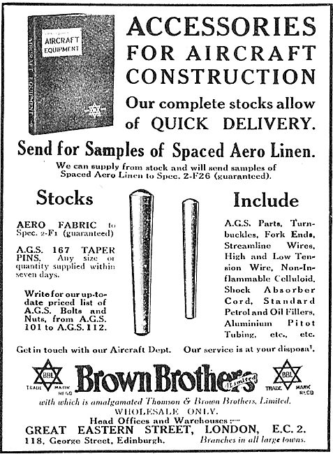 Brown Brothers Accessories For Aircraft Cosntruction