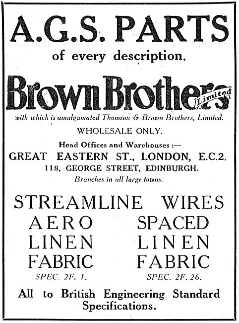 Brown Brothers AGS Parts Of Every Description