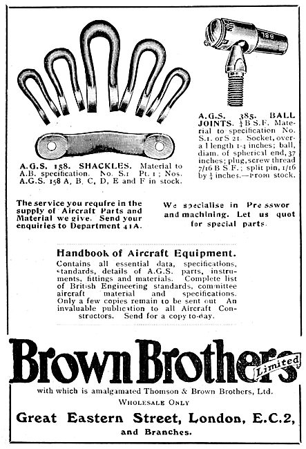 Brown Brothers AGS Parts 1922