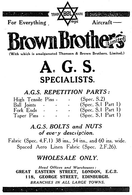 Brown Brothers AGS Parts