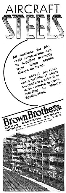 Brown Brothers Aircraft Steels