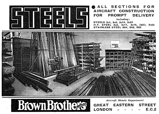 Brown Brothers - Aircraft Steel Stockists
