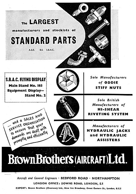 Brown Brothers Hi-Shear Riveting System For Aircraft