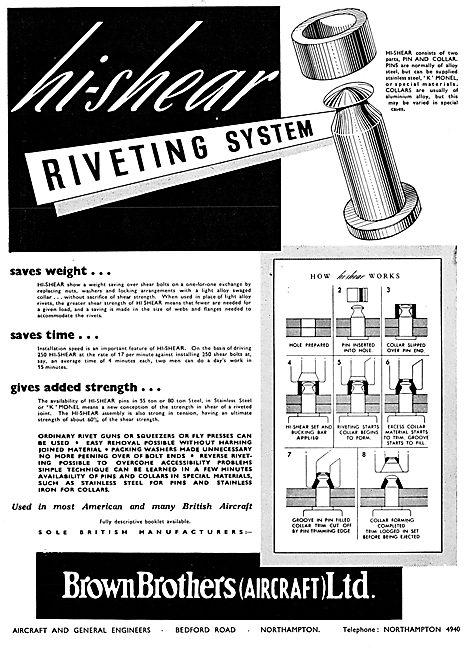 Brown Brothers Hi-Shear Riveting System