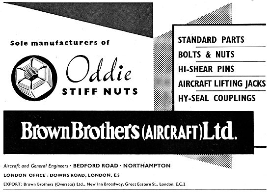 Brown Brothers Aeronautical Engineers Aircraft Parts - Oddie