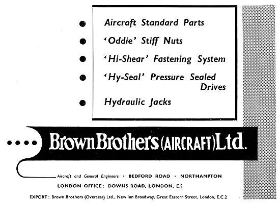 Brown Brothers Aeronautical Engineers Aircraft Parts