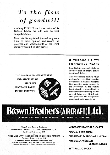 Brown Brothers Aircraft Parts