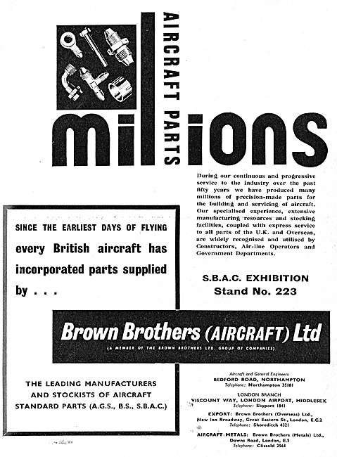Brown Brothers Aircraft Parts Suppliers