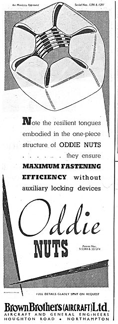 Brown Brothers Oddie Nuts For Aircraft Assembly