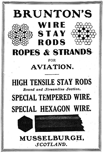 Bruntons Wire Stay Rods & Strands For Aviation