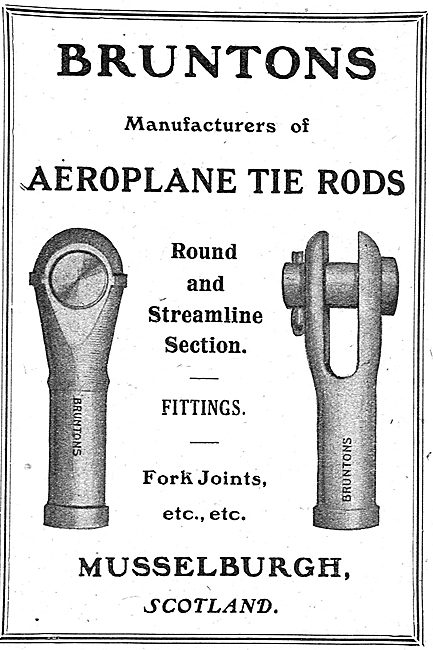 Bruntons Aeroplane Tie Rods & Streamline Section Fittings