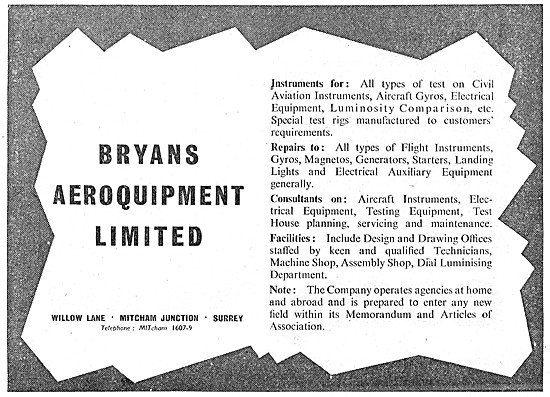 Bryans Aeroquipment Instrument Test Equipment