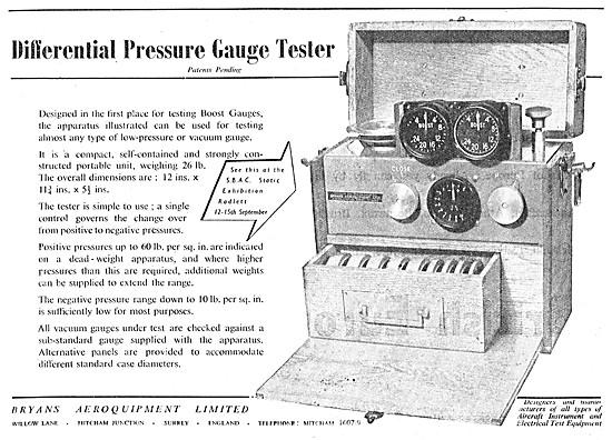 Bryans Aeroquipment Differential Pressure Gauge Tester