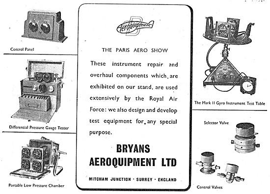 Bryans Aeroquipment Instrument & Component Test Equipment