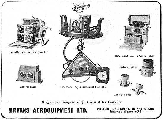 Bryans Aeroquipment -  Aircraft Instrument Testing Equipment