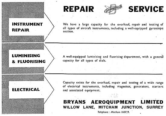 Bryans Aeroquipment Aircraft Instrument Repair Service