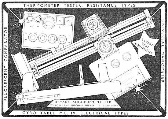 Bryans Aeroquipment Aircraft Components Testing Equipment