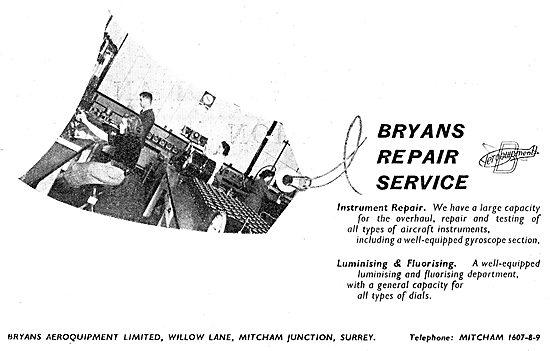Bryans Aeroquipment - Instrument Repair Service 1949