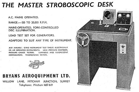 Bryans Aeroquipment - Master Stroboscopic Desk