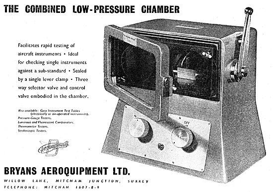 Bryans Aeroquipment Combined Low-Pressure Chamber