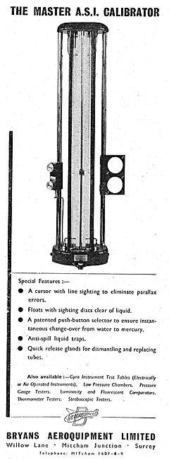 Bryans Aeroquipment. MASTER A.S.I. Calibrator