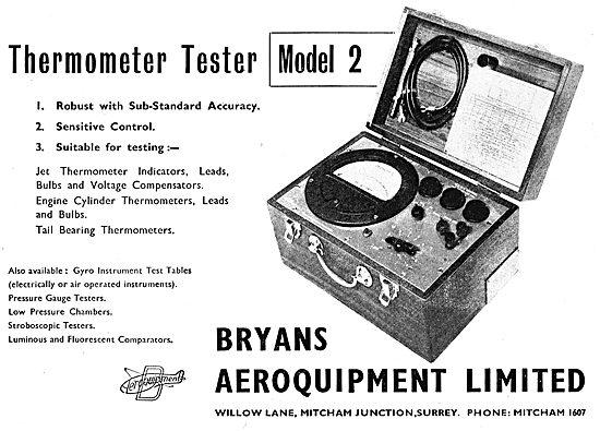 Bryans Aeroquipment - Thermometer Tester Model 2. 1950