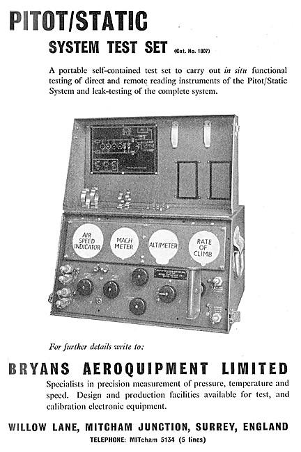 Bryans Pitot/Static System Test Set