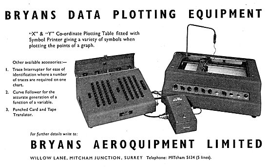 Bryans Aeroquipment - Data Plotting Equipment