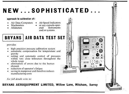 Bryans Aeroquipment - BRYANS Air Data Test Set