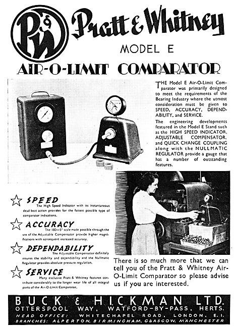 Buck & Hickman Pratt & Whitney Air-O-Limit Comparator