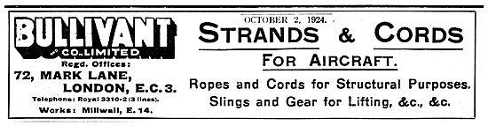 Bullivant Strands, Ropes & Cords For Aircraft