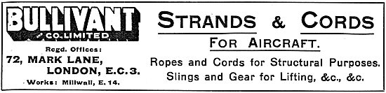 Bullivant and Co : Strands, Ropes & Cords For Aircraft