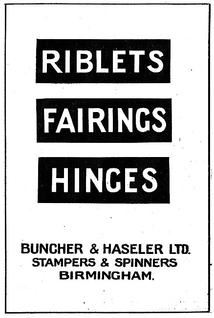 Buncher & Haseler - Aircraft Stampers & Spinners