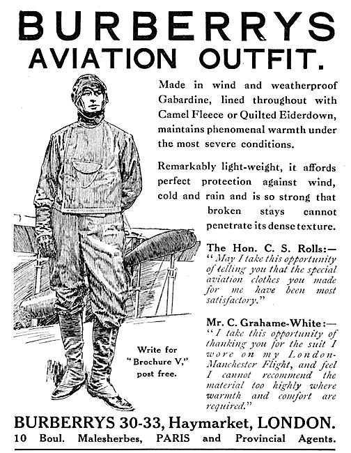 Burberrys Aviation Outfits