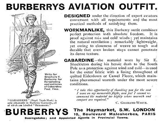 Burberrys Aviation Outfir 1911 - Gabardine