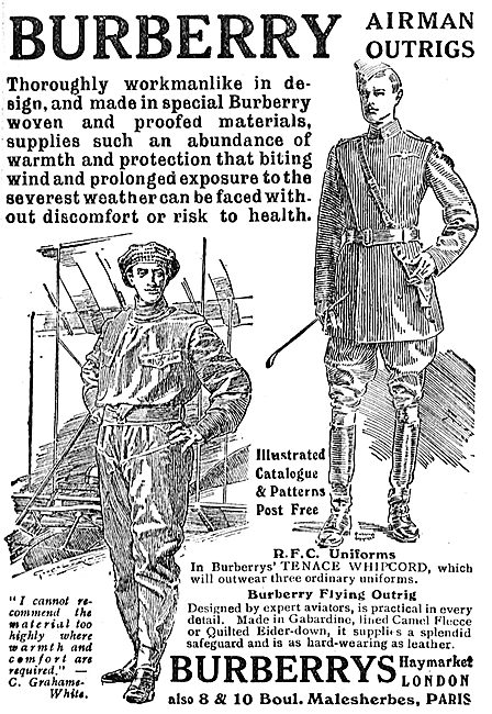 Burberry RFC Uniforms & Flying Outrig
