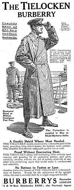 Burberry Tielocken Flying Coat 1916