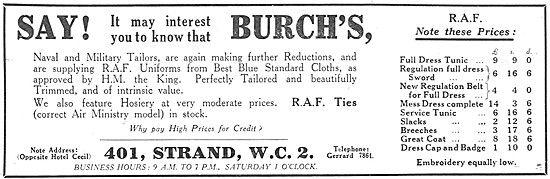 Burchs RAF Uniforms - Burchs Military Tailors
