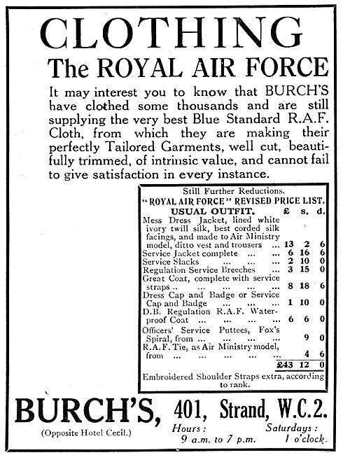 Burch's RAF Uniforms