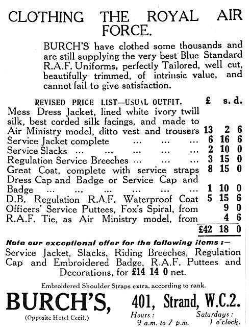 Burch's - Clothinbg The Royal Air Force