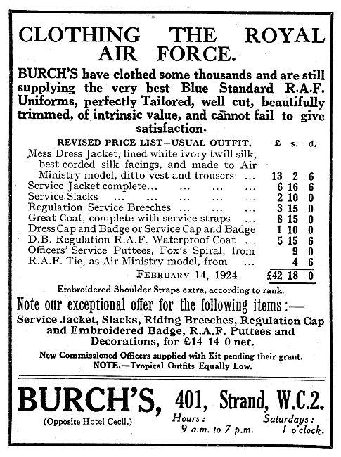 Burchs For RAF Uniforms & Kit