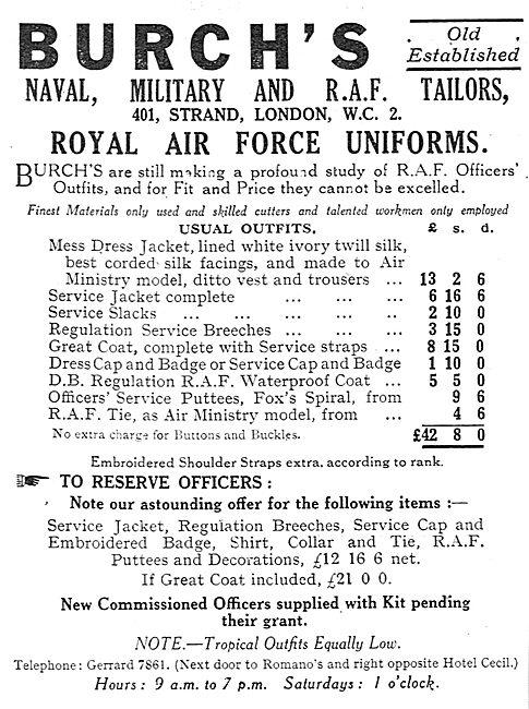 Burch's RAF, Naval & Military Uniforms