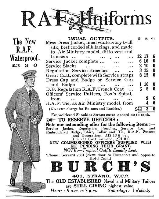 Burchs RAF Uniforms