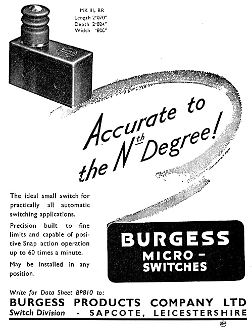 Burgess Products - Burgess Micro-Switches