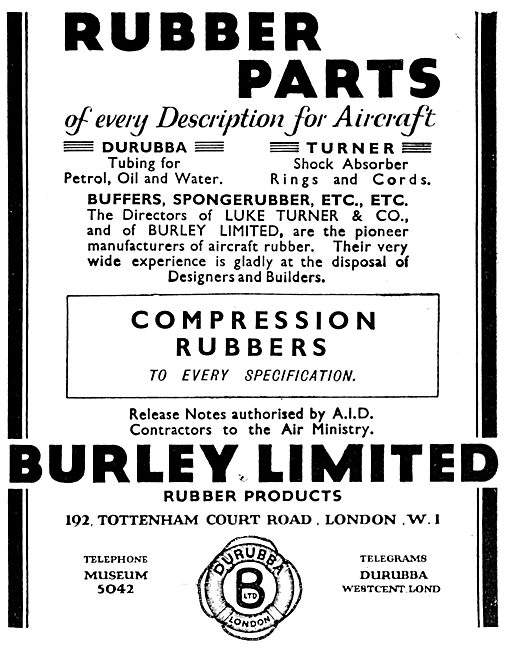 Burley Rubber Components For Aircraft. Durubba Turner Shock