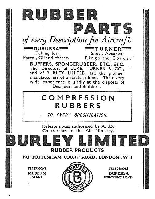 Burley Rubber Parts For Aircraft